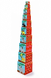 Кубики SCRATCH 6181034 Stacking Tower Animals of the world