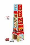 Кубики SCRATCH 6181088 Stacking Tower Cars and helicopter